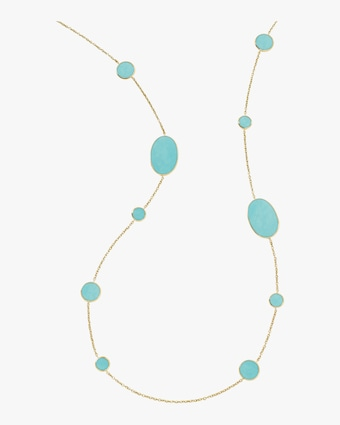 Rock Candy Mixed Stones Station Necklace