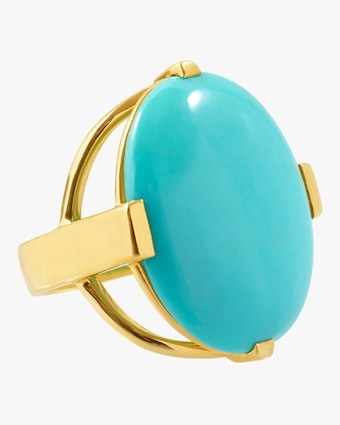 Rock Candy Oval Turquoise Ring