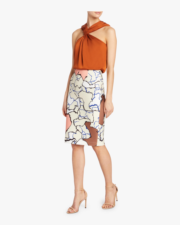 Printed Scuba Skirt