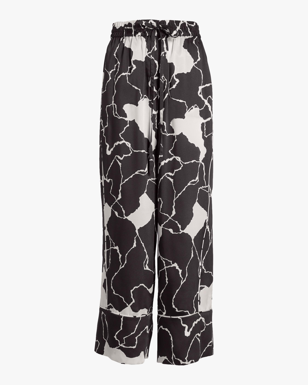Ocean Crest Printed Twill Pants