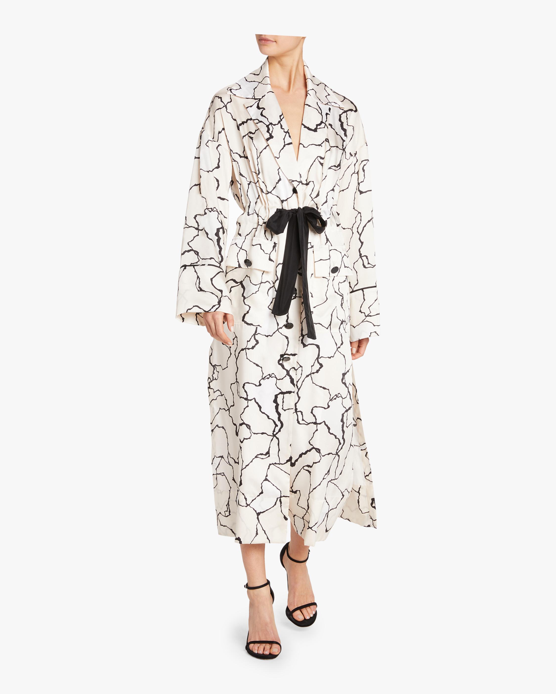 Ocean Crest Printed Twill Robe