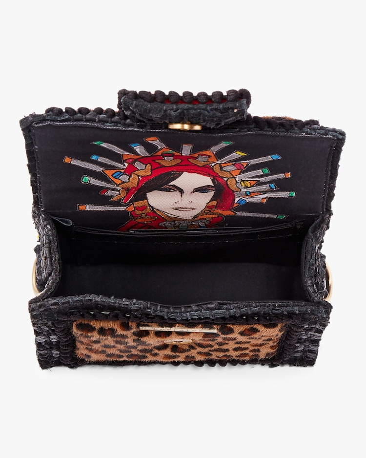 Petite Leopard Embroidered Shoulder Bag Kooreloo