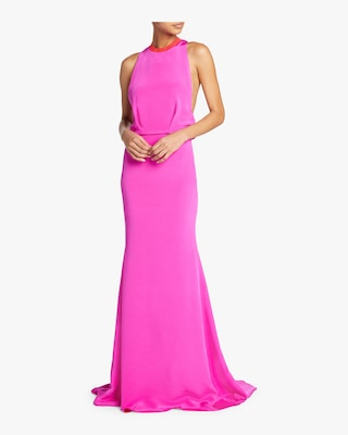 Blouson Top Sleeveless Gown