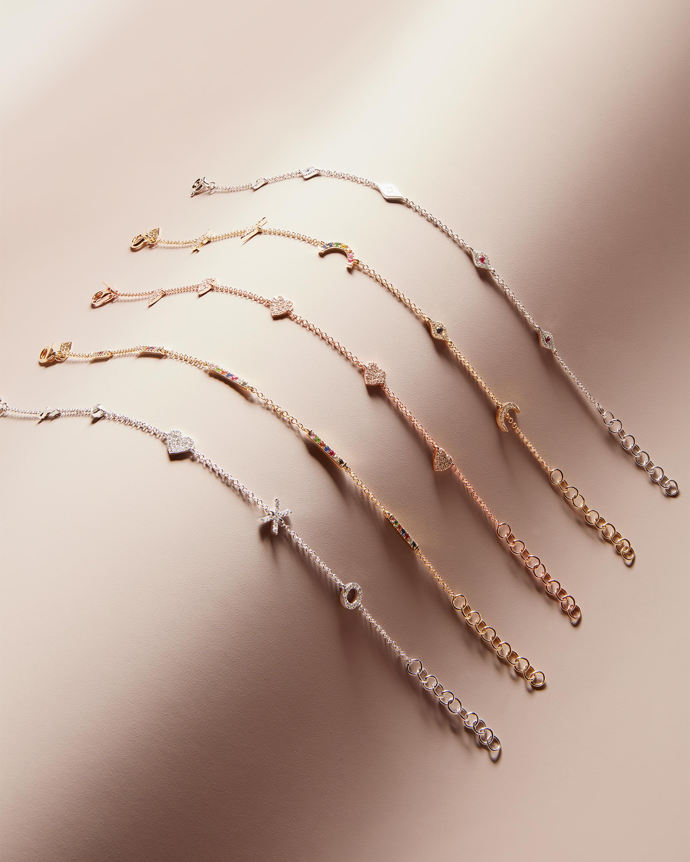 Diamond Sweetheart Charm Bracelet EF Collection