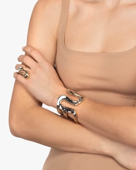 Two Tone Sculptural Cuff