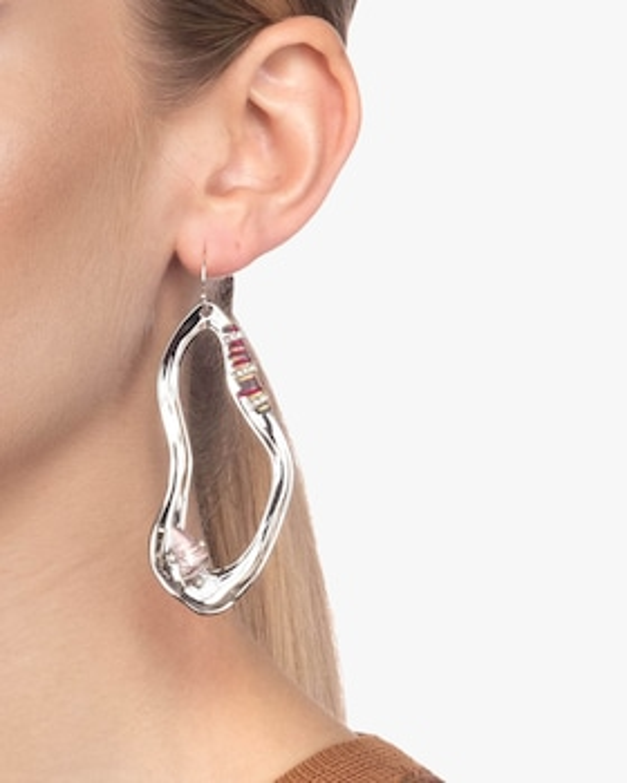 Liquid Rhodium Link Earrings