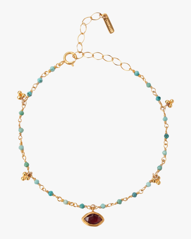 Turquoise Mix Evil Eye Charm Bracelet