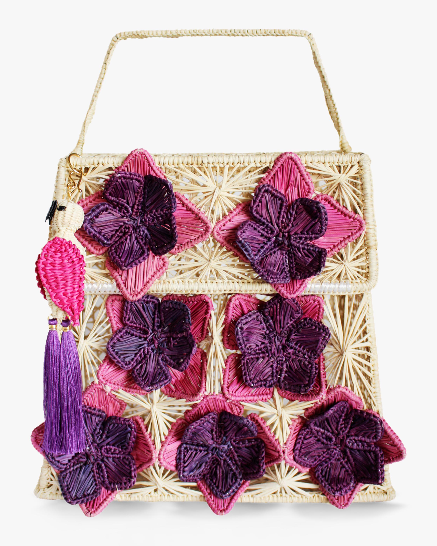 Mercedes Salazar Seven Flowers Woven Parrot Handbag 0