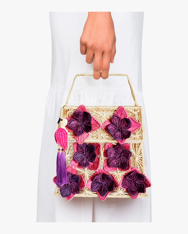 Mercedes Salazar Seven Flowers Woven Parrot Handbag 1