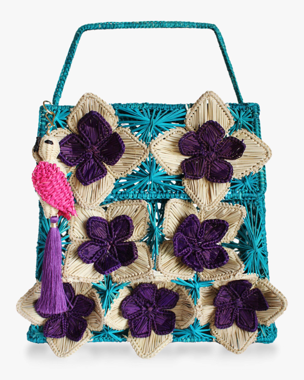 Seven Flowers Woven Parrot Handbag