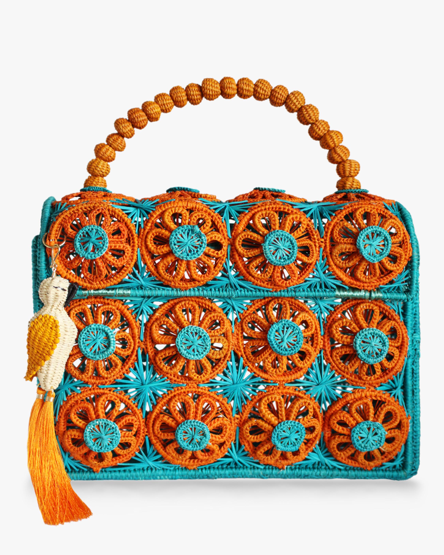 Amanecer Woven Parrot Handbag