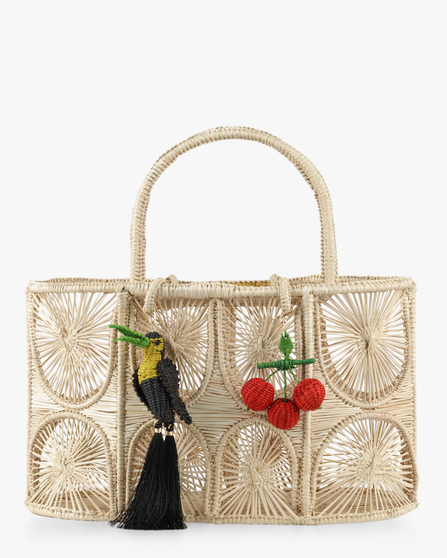 Eating Cherries Woven Parrot Handbag