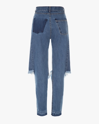 Dark Blue Demi-Denim Jeans