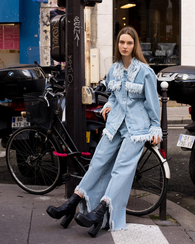 Wide Leg Fringe Jeans