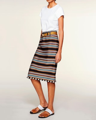 Artsy Stripes Pencil Skirt