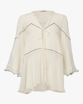 Crinkled Volume Blouse