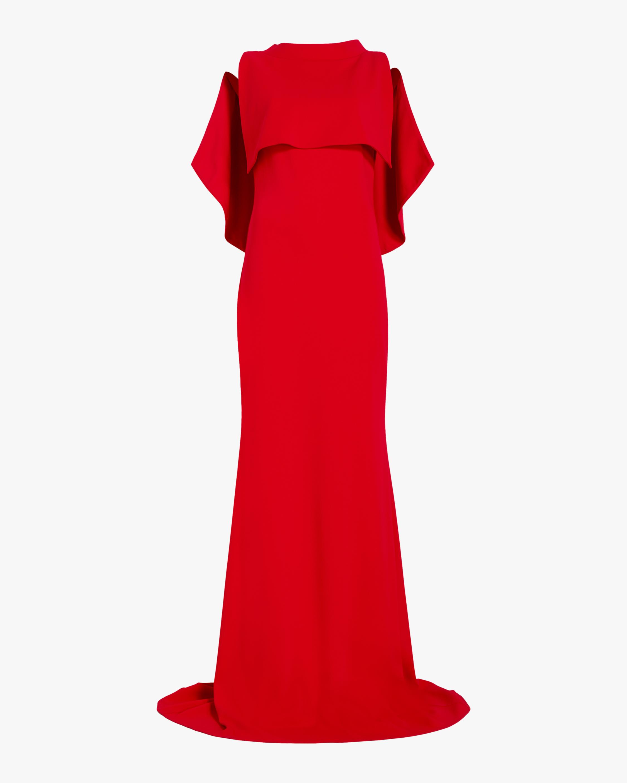 Badgley Mischka Mockneck Column Gown 0