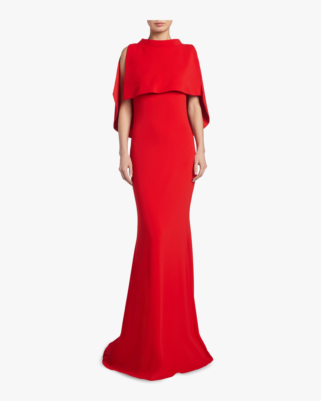Badgley Mischka Mockneck Column Gown 1