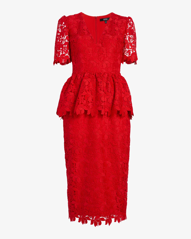 Peplum Lace Sheath Day Dress