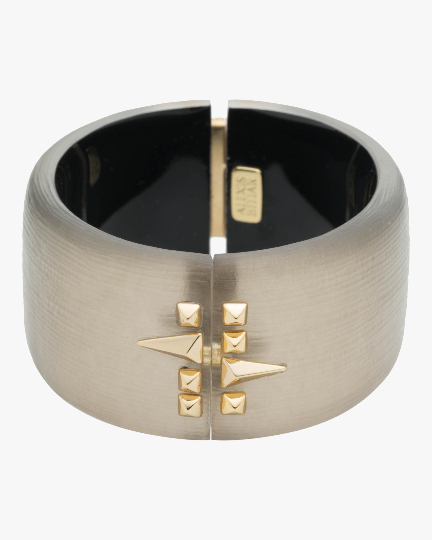 Alexis Bittar Golden Studded Hinge Bracelet 0