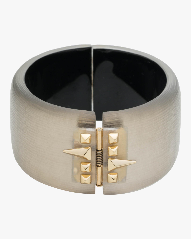 Alexis Bittar Golden Studded Hinge Bracelet 2