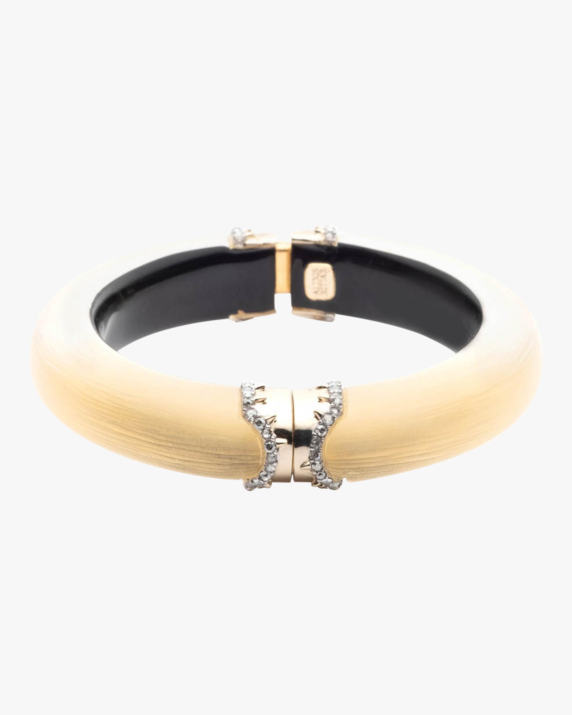 Pavé Edged Segmented Hinge Bracelet