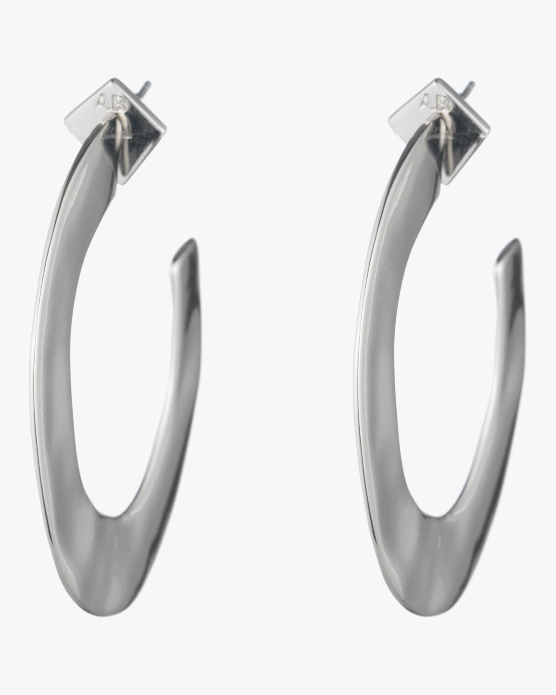 Liquid Metal Orbit Hoop Gold Earrings