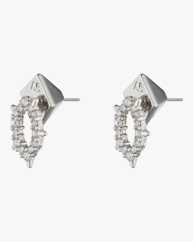 Crystal Encrusted Spike Stud Earrings