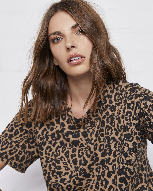 Leopard Boxy Tee Shirt