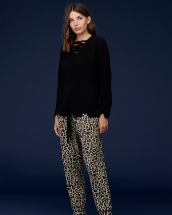 Brushed Leopard Pants