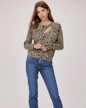 Brushed Leopard Phased Top
