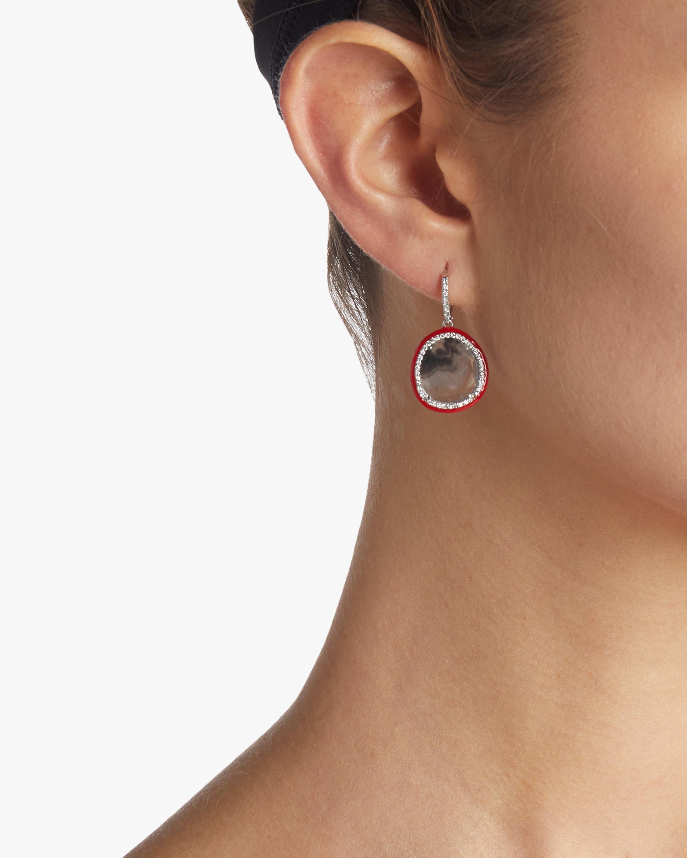 Enameled Slice Diamond Earrings