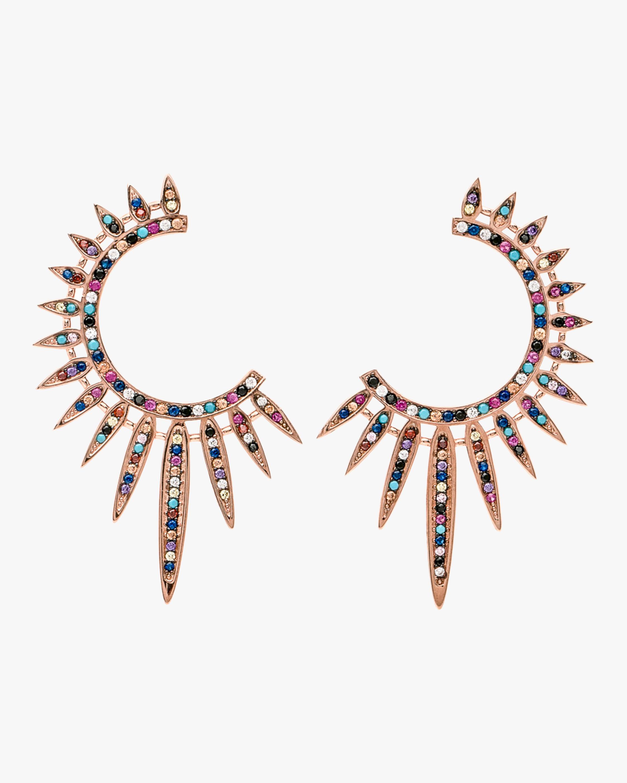 Nickho Rey Statement Sunburst Earrings 0