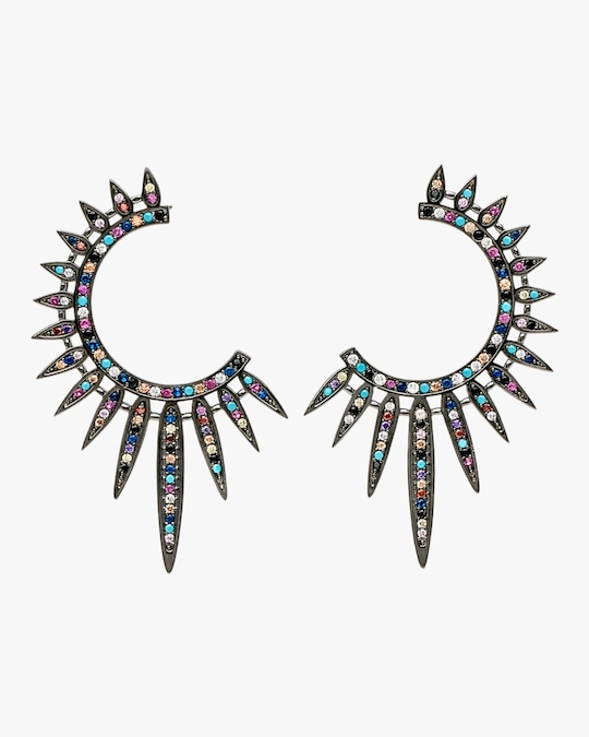 Nickho Rey Statement Sunburst Earrings 0