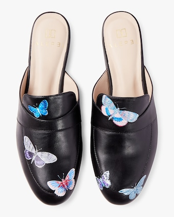 Hand Painted Butterfly Mule