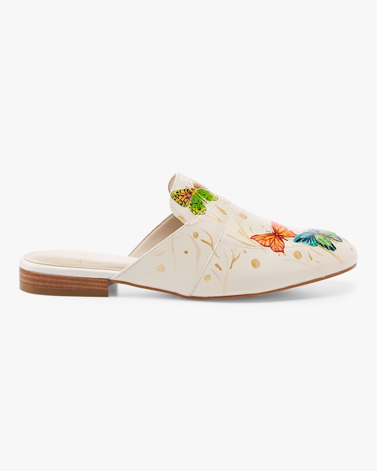 Alepel Hand Painted Butterfly Mule 1