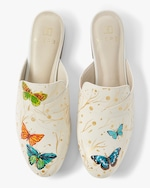 Alepel Hand Painted Butterfly Mule 0