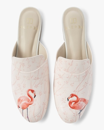 Alepel Hand Painted Flamingo Mule 1