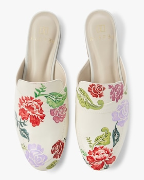 Hand Painted Wine Flower Mule