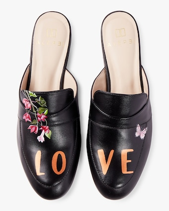 Hand Painted Love Mule