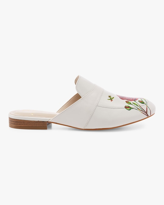 Alepel Hand Painted Rose Mule 1