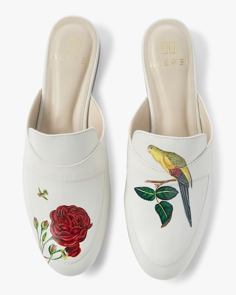 Hand Painted Rose Mule