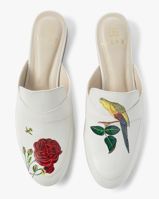 Alepel Hand Painted Rose Mule 0
