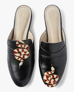 Alepel Hand Painted Gold Snake Mule 0