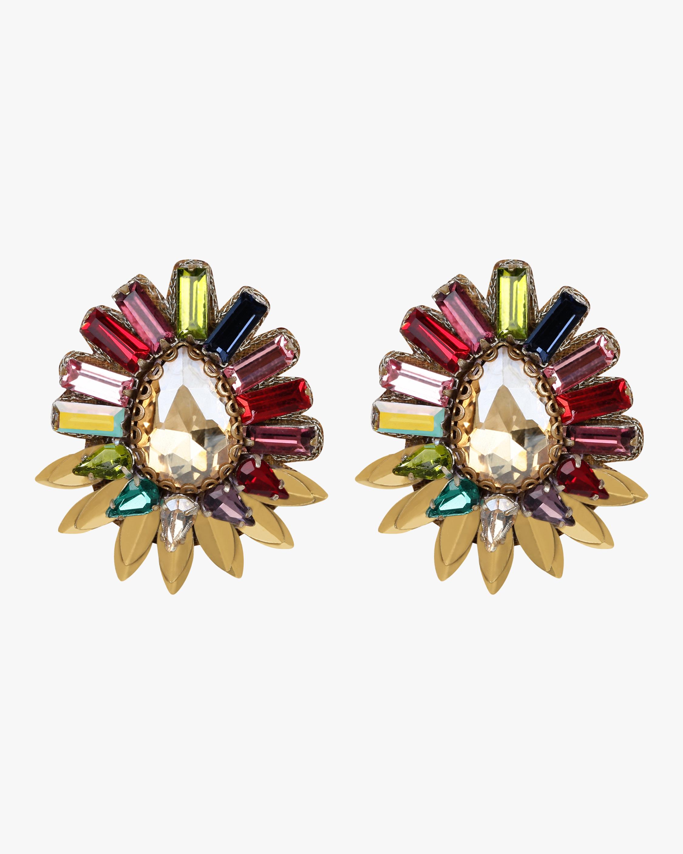 Jewelled Sunburst Earrings