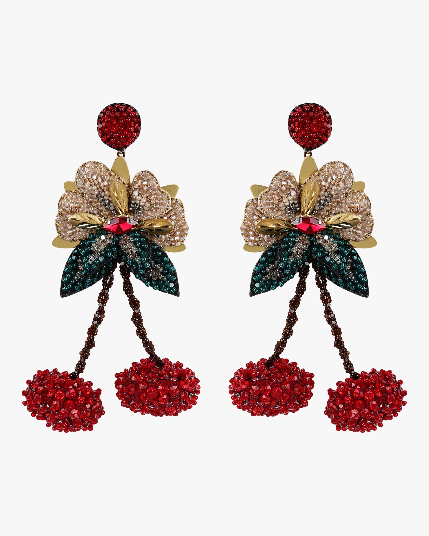 Beaded Cherries Earrings