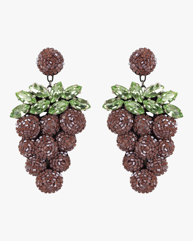 Beaded Grape Earrings