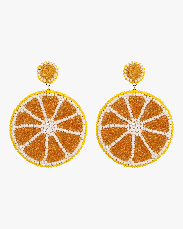 Beaded Orange Earrings