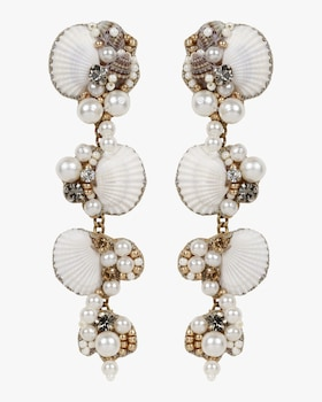 Aliyah Beaded Seashell Drop Earrings