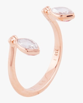 Swinging Diamond Open Ring